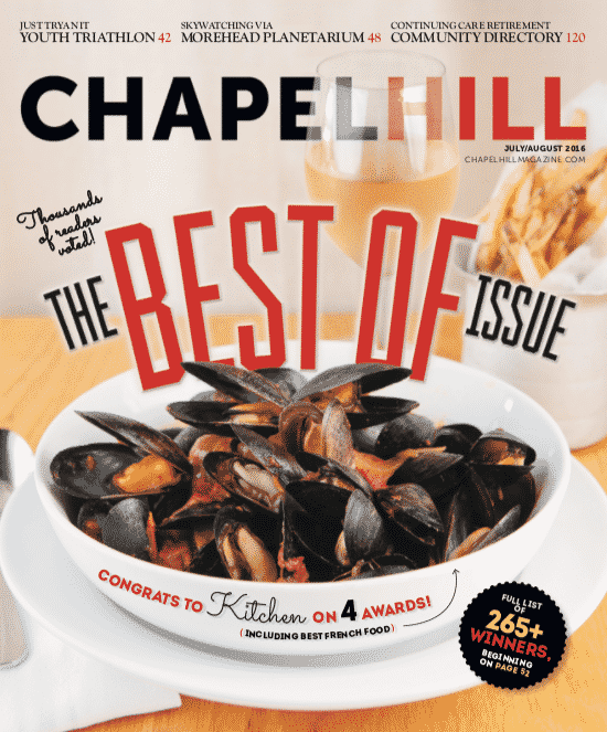 Kitchen's mussels were voted a Chapel Hill favorite by readers.