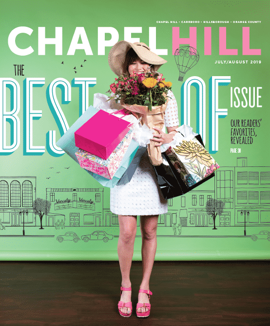 The Best of Chapel Hill 2019 cover features multiple readers' favorites.