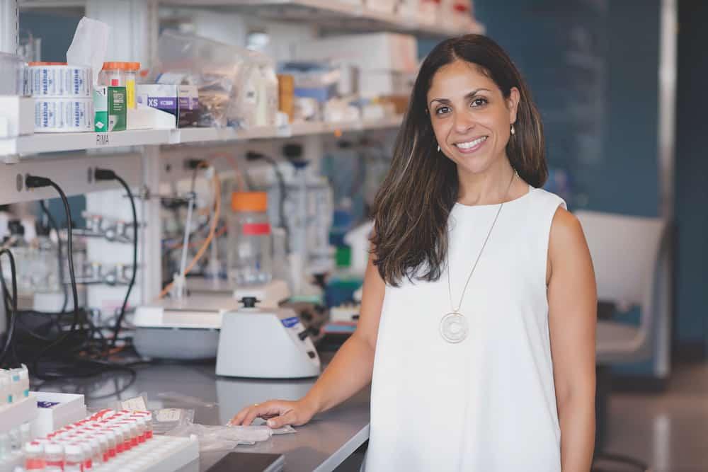 Dr. Rahima Benhabbour, an adjunct professor at the UNC Eshelman School of Pharmacy