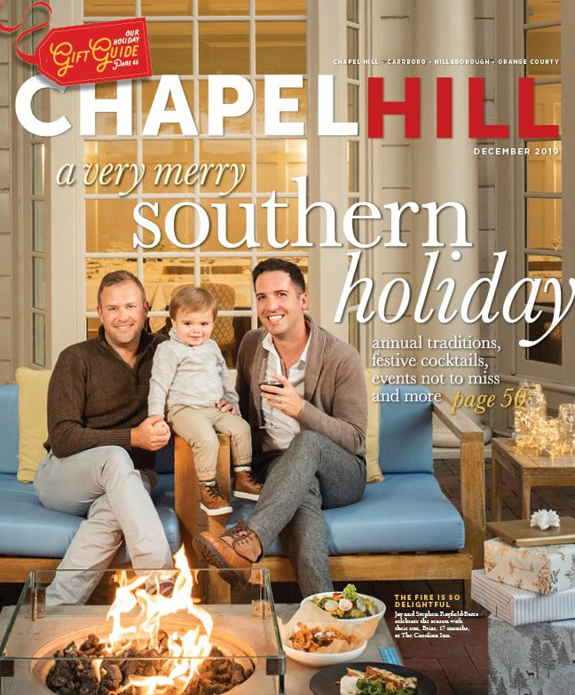 The cover of the December 2019 issue of Chapel Hill Magazine