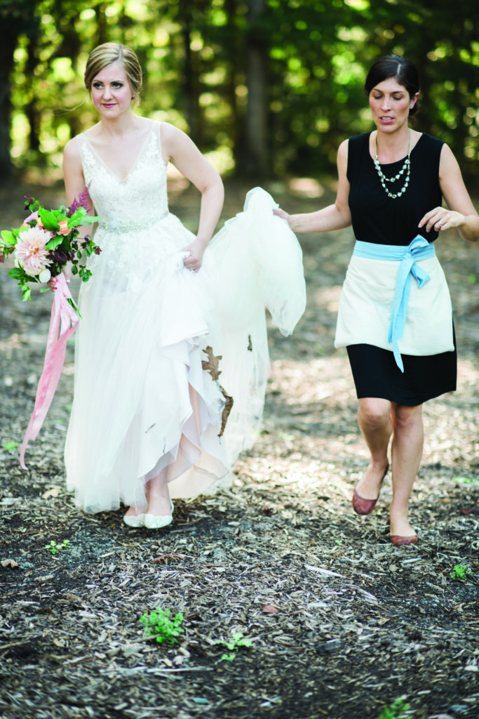 Cheryl-Anne Kast of Kast Events and a bride