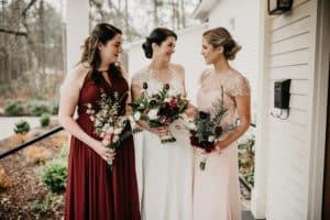 Sarah Mixter and her bridemaids at The Parlour at Manns Chapel