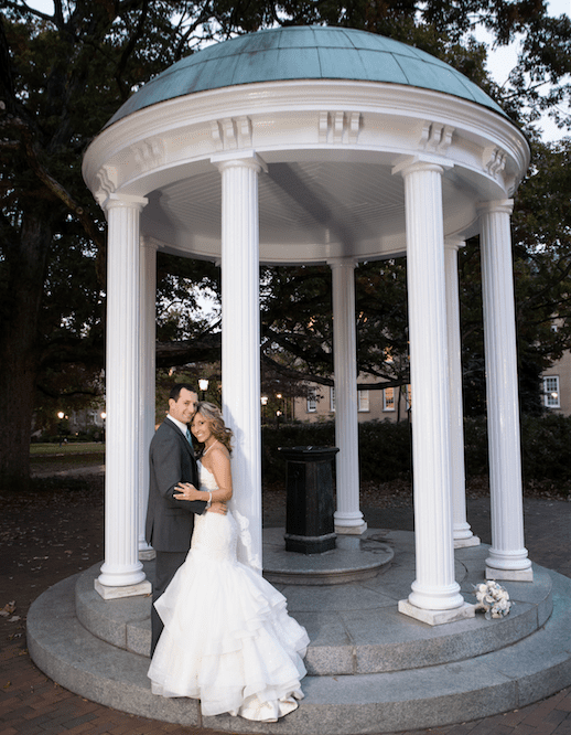 Kaylie McCraw and RC Orlan met their freshman year as undergrads at UNC and held their wedding at The Carolina Inn.