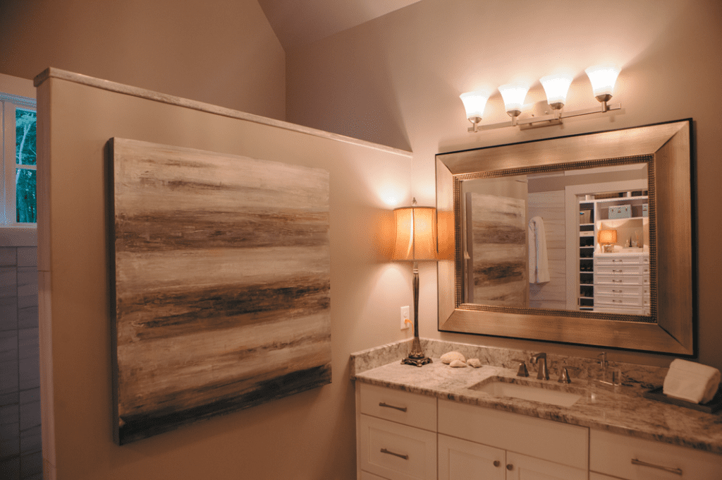"""The master bath is on the first floor so they can age in place. """"We think this is where we'll stay,"""" Terry says of the house. Chris agrees: """"We'll retire here."""""""