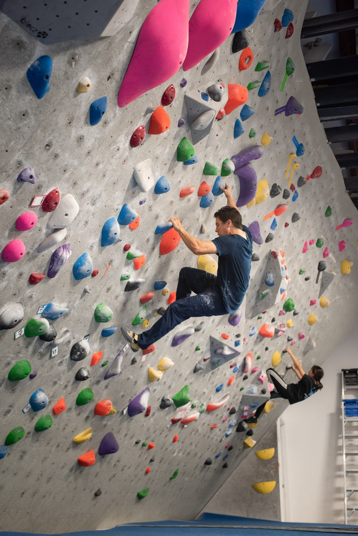Andrew Kornylak at Progression Climbing