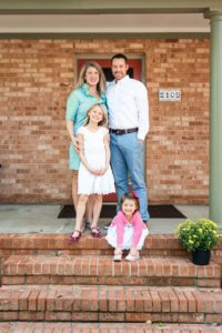Kimberly and Patrick Jeffs with their two daughters