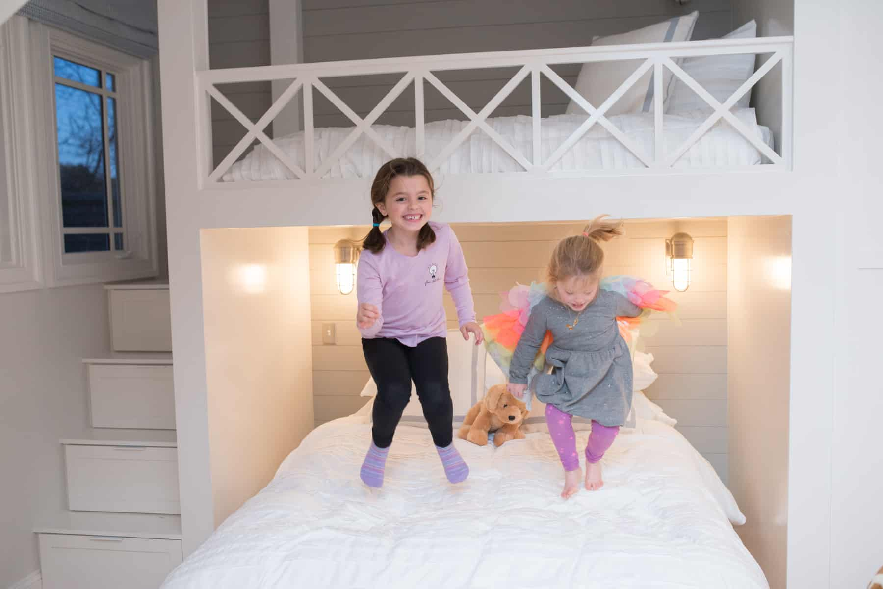 Bailey and Harper Wood's extra bedroom is perfect for sleepovers.