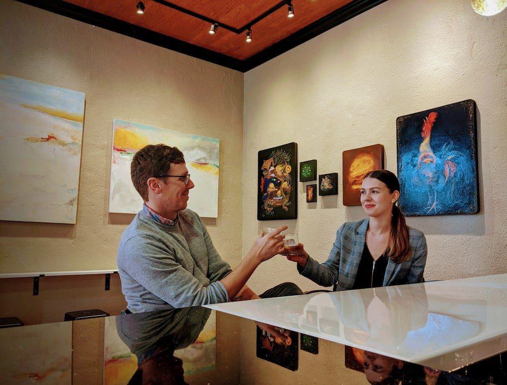 Bakova Gallery in Hillsborough opens a speakeasy