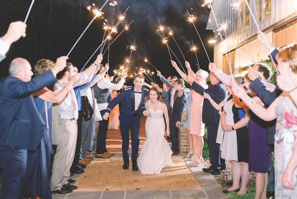 Kristen and Alexander Bellows at The Barn of Chapel Hill at Wild Flora Farm