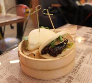 Steamed Bao at Hawkers Asian Street Fare