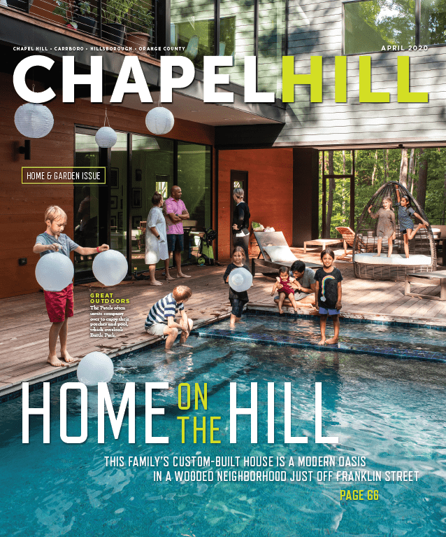 The April issue of Chapel Hill Magazine
