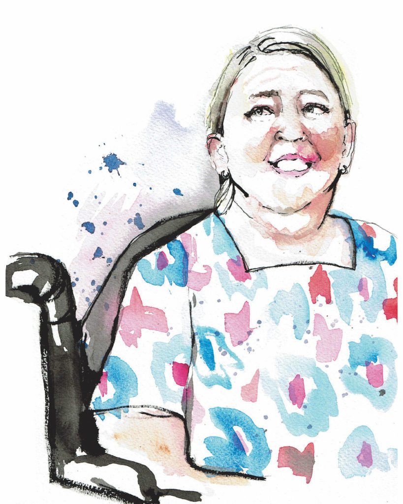 Ellen Perry, who struggles with a disability