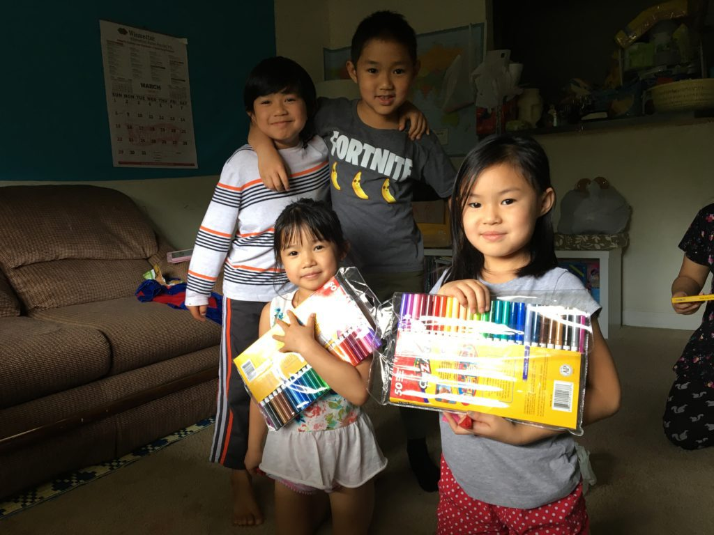 Art Therapy Institute clients receive art supplies at home.