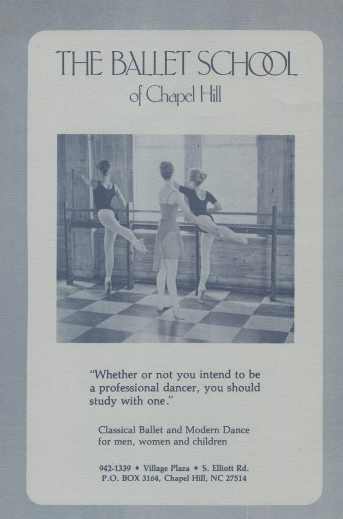 Ballet School of Chapel Hill brochure