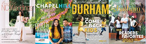 Fall 2020 issues of Chapel Hill Magazine, Durham Magazine, Chatham Magazine and Heart of NC Weddings