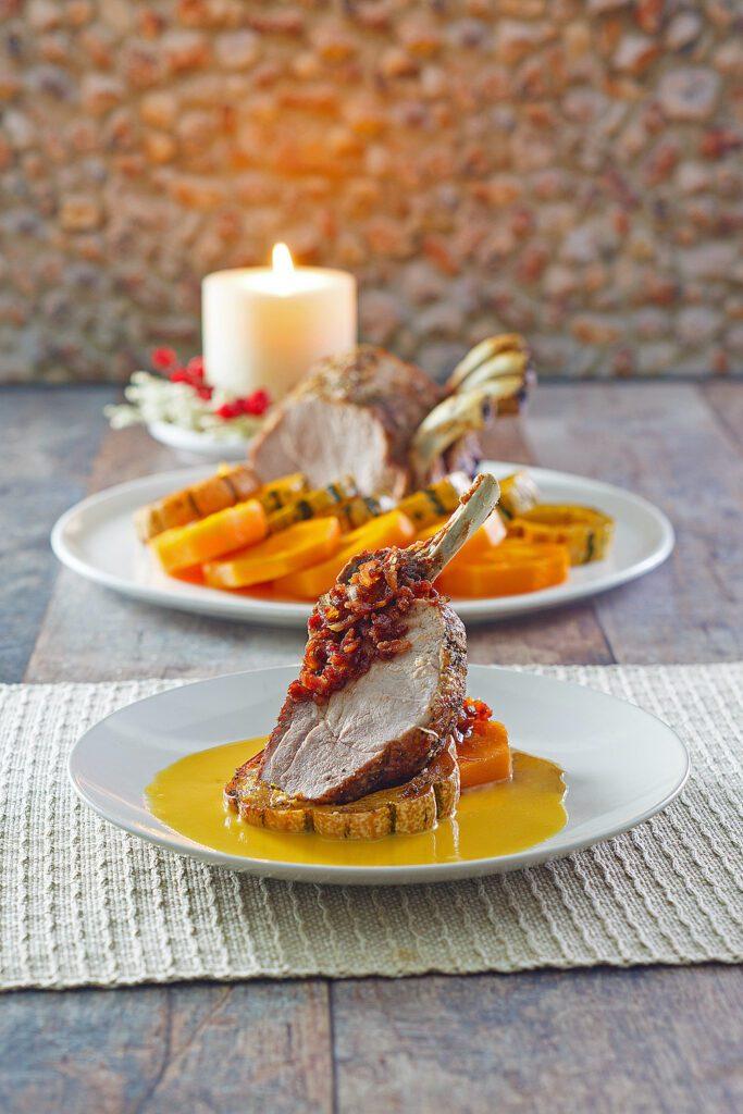 Pork with delicata butternut squash