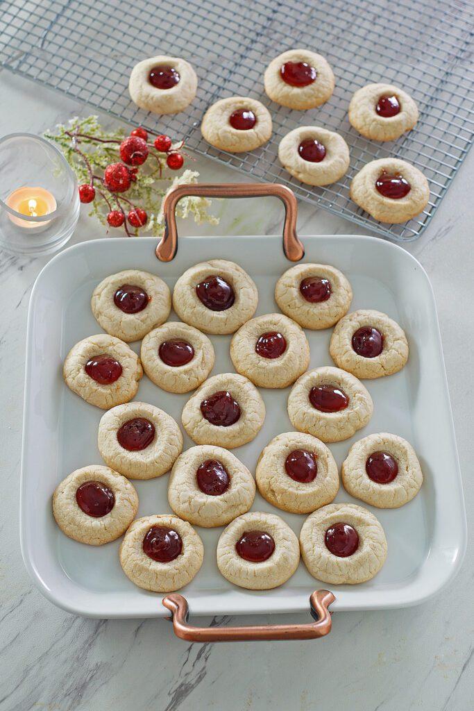 Mascarpone Thumbprint Cookies