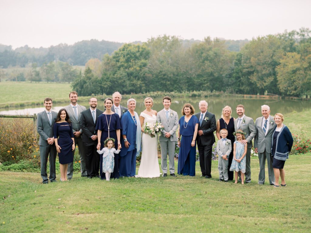 The couple and their families