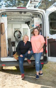 Local Electrician Carol Dixon Acton and her wife, Jennifer Acton.