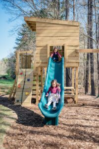 Kids on Playset The Baboolal Residence Chapel Hill Magazine John Michael Simpson
