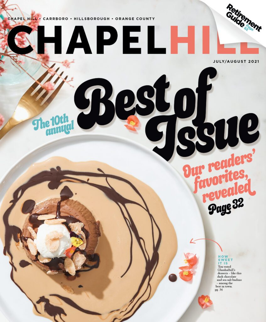 Chapel Hill Magazine July/Aug Cover
