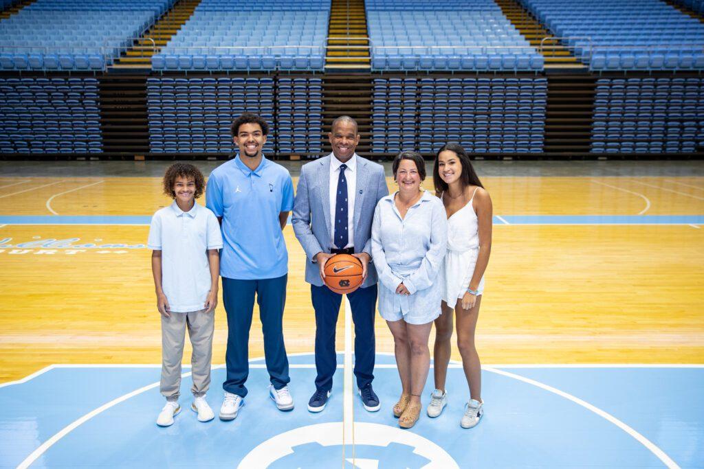 Hubert Davis with his family