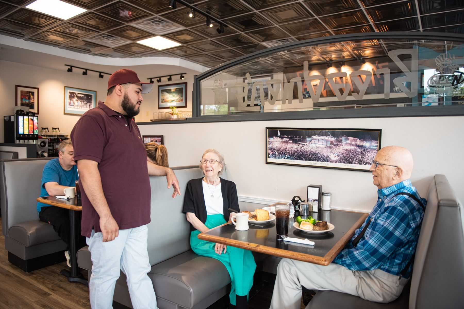Peggy Hollingsworth and Tom Hollingsworth have lived in Chapel Hill since 1966 and been going to Breadman's since 1995. They visit the restaurant three to four times a week.